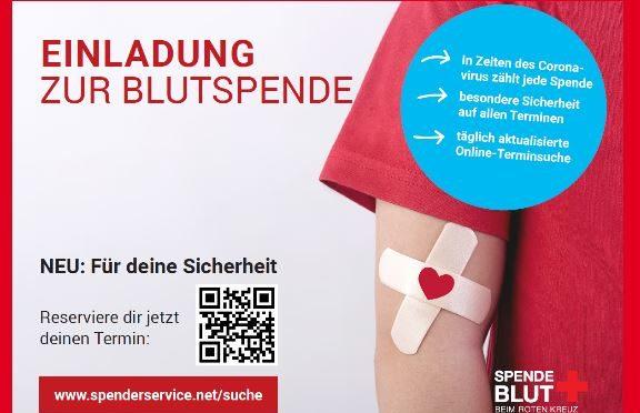 Blutspende am 30. Mai im  TSV