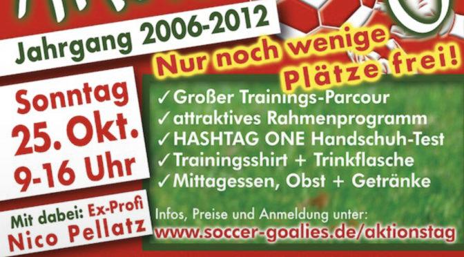 torwartaktionstag der soccer goalies am 25. Oktober